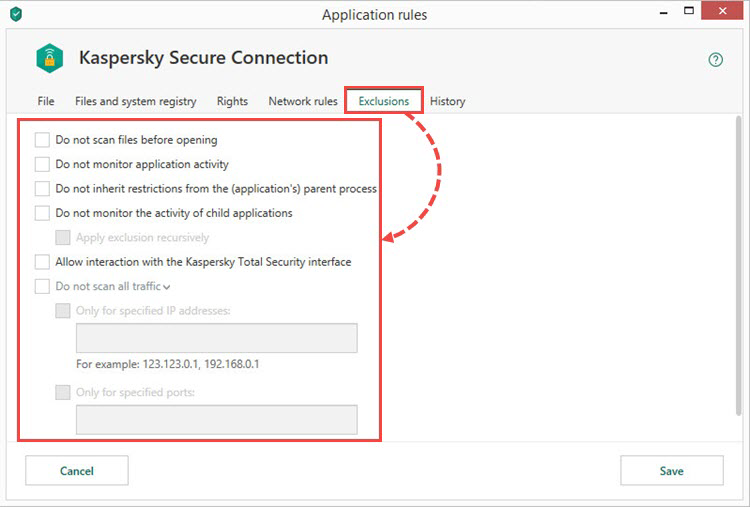 Configuring application restrictions with Kaspersky Total Security 19