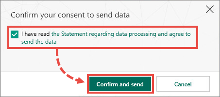 Confirming the sending of data about an application to Kaspersky Lab with Kaspersky Security Cloud 19