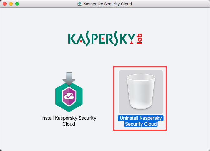 Image: the installation window of Kaspersky Security Cloud for Mac