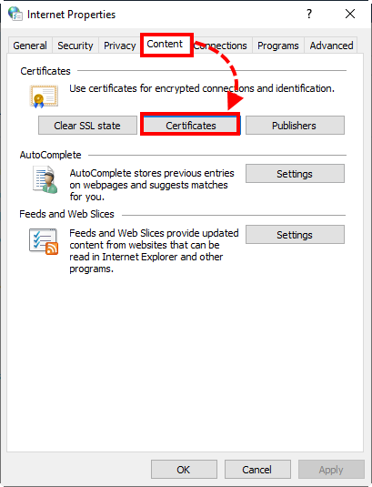 Opening the system certificate storage