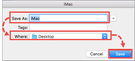 Saving the report on Mac OS X 10.11