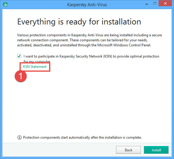 Image: End User License Agreement for Kaspersky Anti-Virus 2018