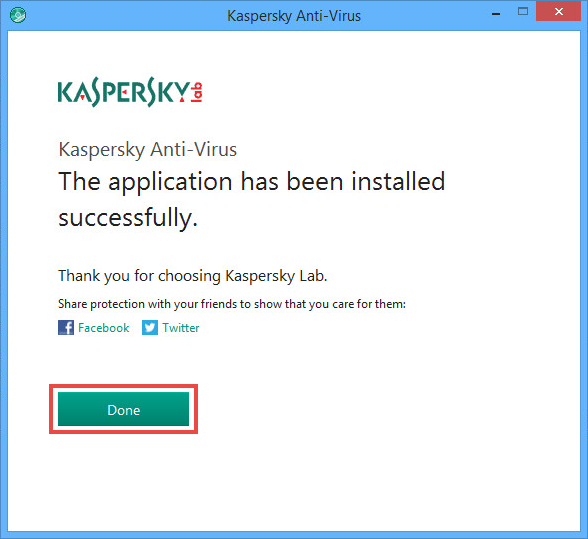 Image: the installation wizard window of Kaspersky Anti-Virus 2018
