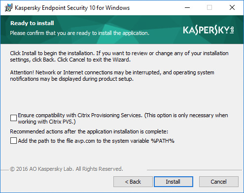 The process of upgrading to the latest version of Kaspersky Endpoint Security 10