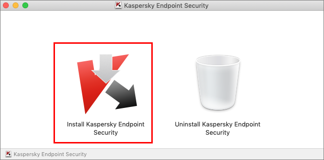 Launching the installation of Kaspersky Endpoint Security 11 for Mac