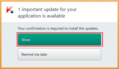 Image: the notification window of Kaspersky Internet Security 2018