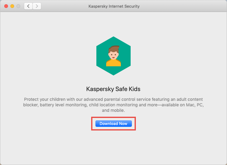 Downloading the installer for Kaspersky Safe Kids