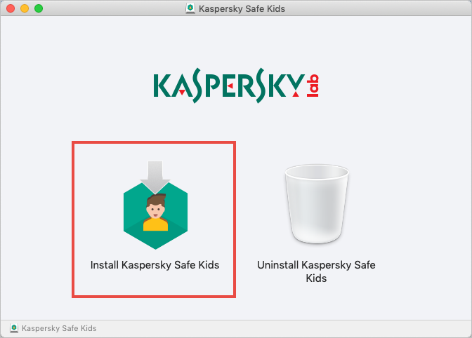 Starting the installation of Kaspersky Safe Kids