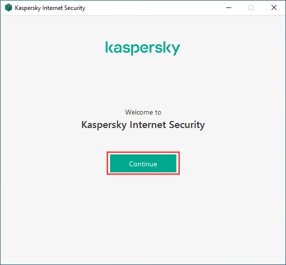 Continuing installation of Kaspersky Internet Security
