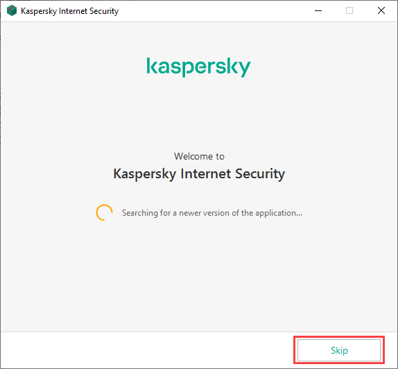 Skipping the search for a new version when installing Kaspersky Internet Security