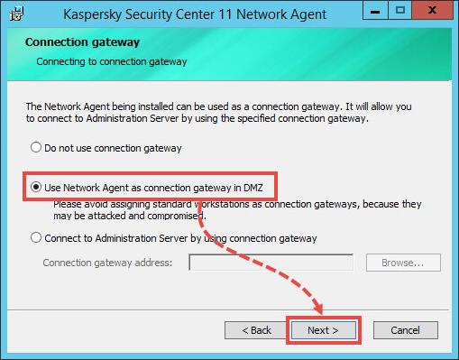 Setting up a connection gateway