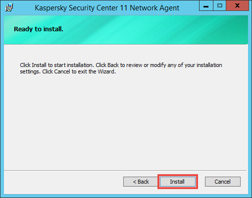 Confirming the installation of the Network Agent