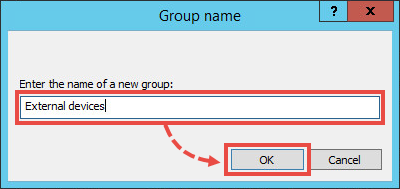 Entering the name for a group of managed computers