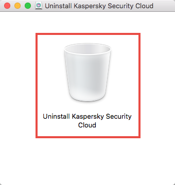 Starting the uninstallation wizard for Kaspersky Security Cloud for Mac