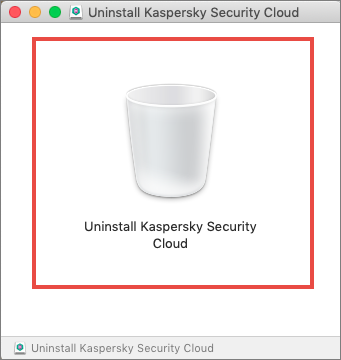 Starting the uninstallation wizard for Kaspersky Security Cloud 20 for Mac
