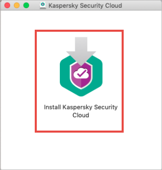 The installation wizard of Kaspersky Security Cloud for Mac