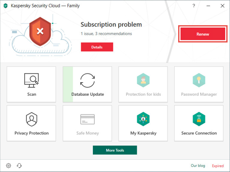 Renewing the license for Kaspersky Security Cloud