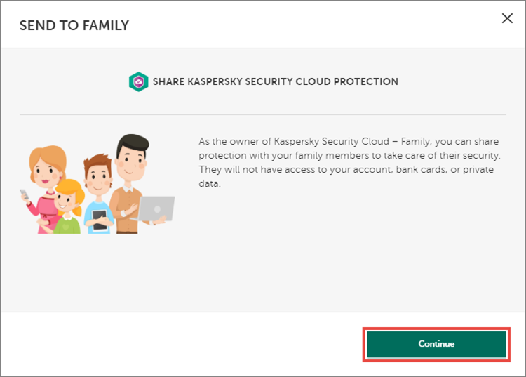 Sharing the Kaspersky Security Cloud 20 subscription
