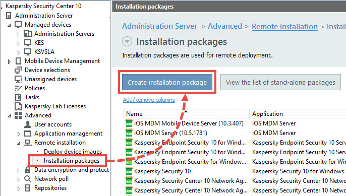 Creating the installation package for Kaspersky Security for Virtualization 5.0 Light Agent