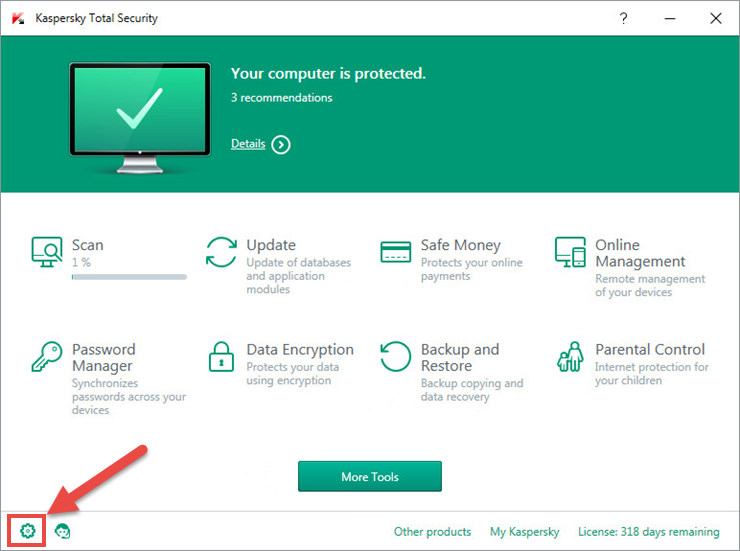 How to allow or block access to ports using a Kaspersky Lab product